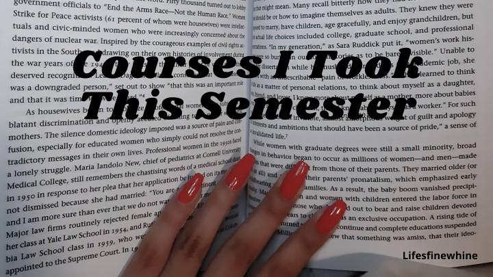 My Courses LastSemester